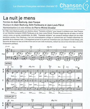 partition guitare la nuit je mens